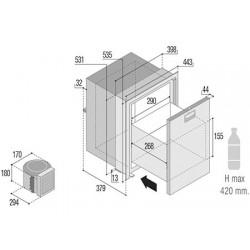 Frigoriferi vitrifrigo inox a cassetto compressore esterno - Frigoriferi da esterno ...