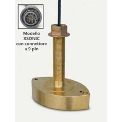 Lowrance B258 trasduttore bronzo passante 1Kw Xsonic 9pin